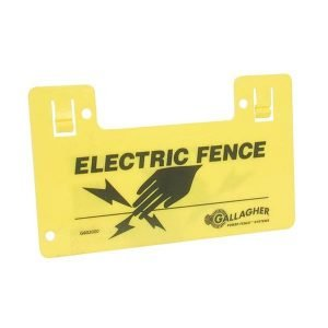 Warning Sign for electric fence
